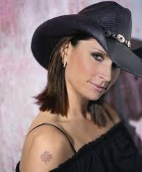 Terri Clark maple leaf tattoo