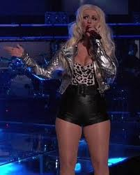 Christina Aguilera tight outfit