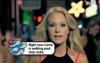 Carrie Underwood popup video