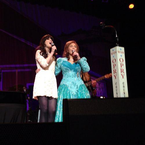 Zooey Deschanel and Loretta Lynn
