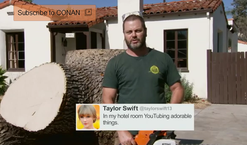 Taylor swift ron swanson tweet