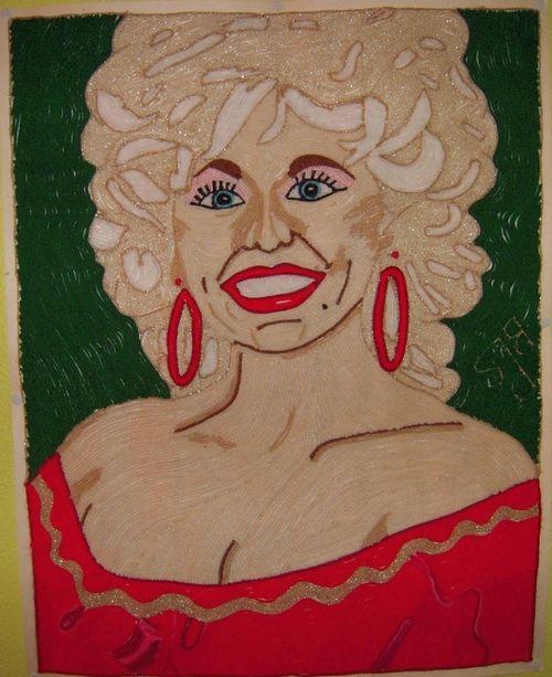 Dolly Parton in yarn