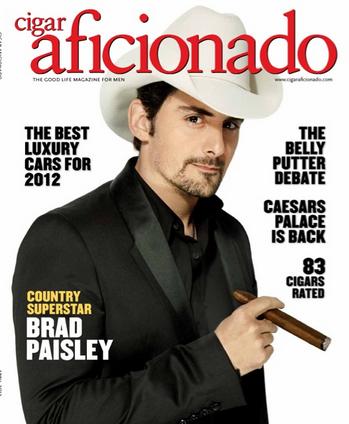 Brad Paisley Cigar Aficianado