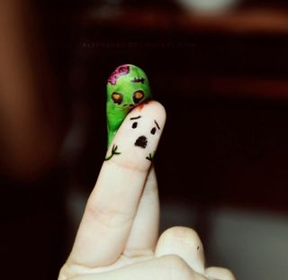Zombie finger attack