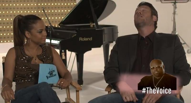 Blake imitates Cee Lo Green