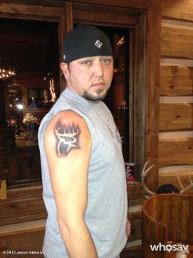 Jason Aldean new tattoo