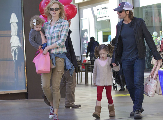 Keith Urban and family
