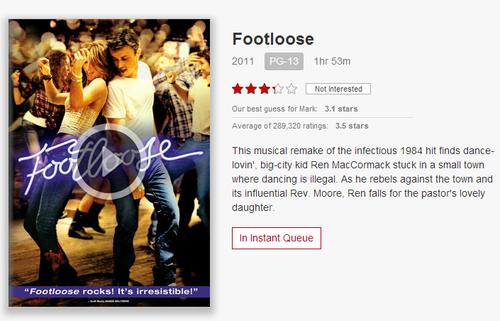 Footloose on Netflix