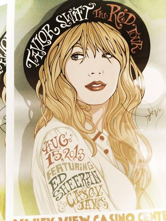 Taylor concert poster