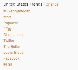 Luke Bryan trending