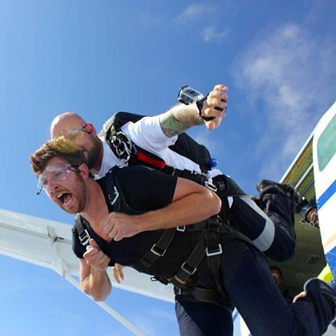 Brett skydiving
