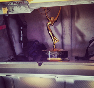 Emmy in the overhead