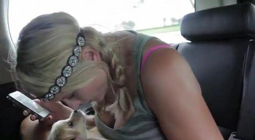 Miranda and  puppy