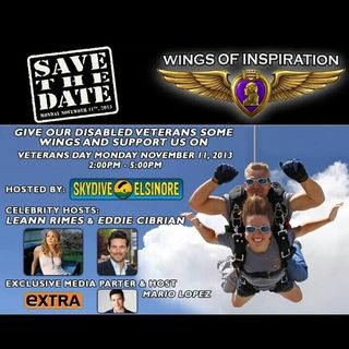 LeAnn Rimes jumps out of a perfectly good airplane for a good cause