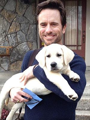 Charles-esten and dog