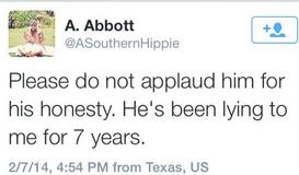 Abbott wife tweet
