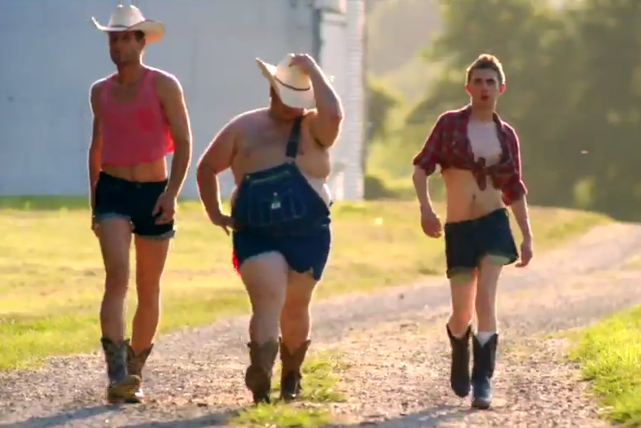 Maddie and tae girl in a country song video
