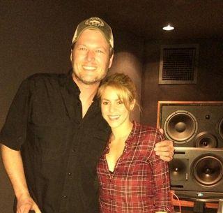 Shakira and Blake Shelton