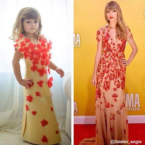 Taylor Swift dress in paper