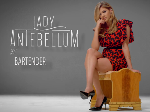 Kate Upton lady antebellum bartender video