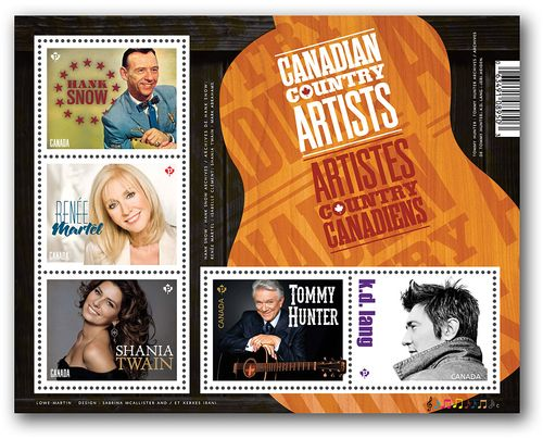 Canadian country star stamps