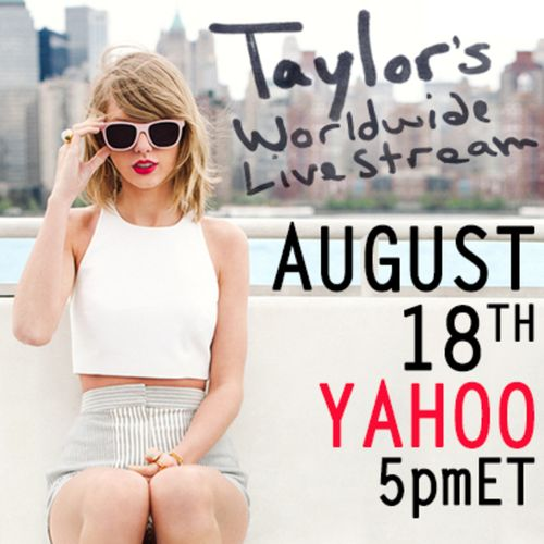 Taylor Swift yahoo live stream