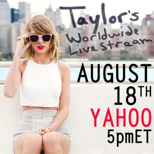 Taylor Swift yahoo live stream