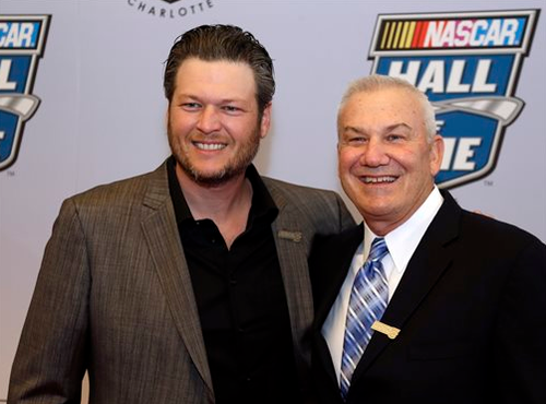 Blake Shelton nascar Hall of Fame