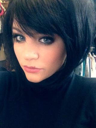 Lauren Alaina black wig