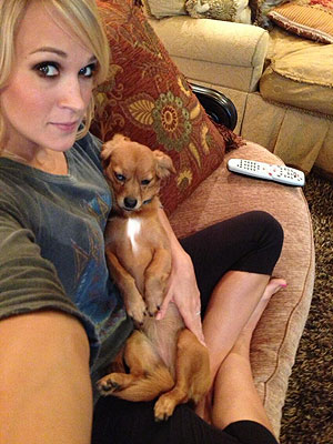 Carrie Underwood and her baby