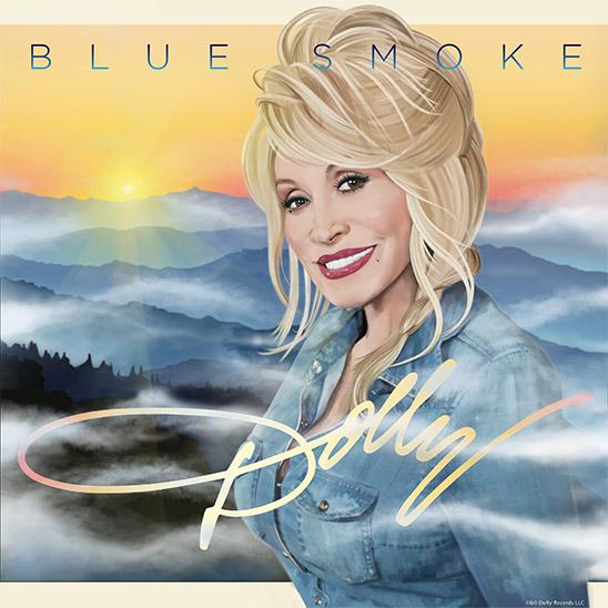 Dolly Parton - Blue Smoke Album Cover Art
