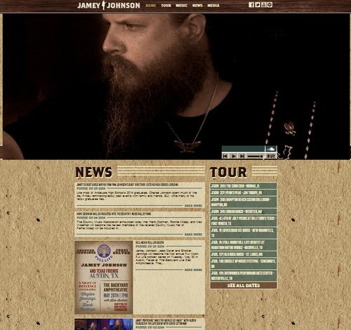 Jamey Johnson has a shiny new website … let's hope that shiny new music isn't far behind