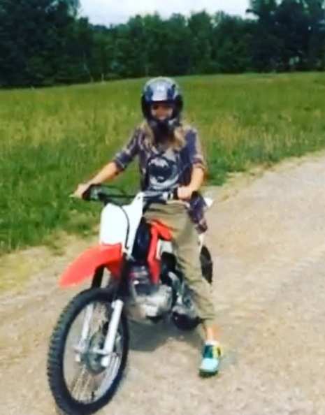 Carrie Underwood dirt bike