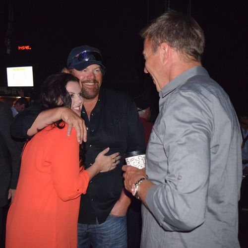 Krysal and Toby Keith