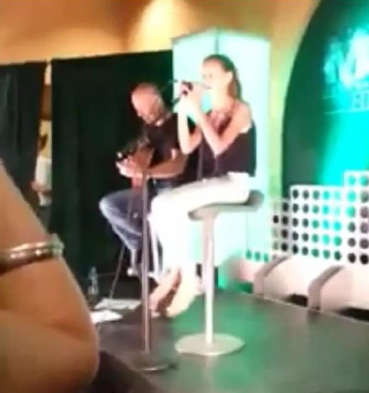 Audrey McGraw performing