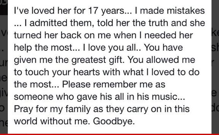 Josh Gracin Facebook post TMZ