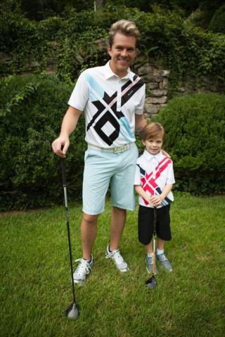 Joe Don and son in Sligo Golf Wear