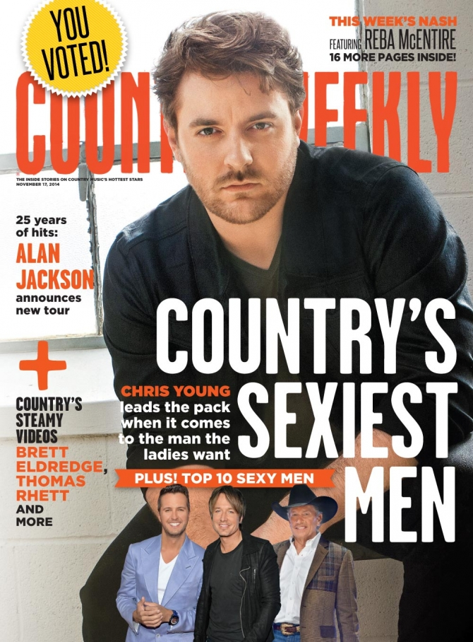 Chris Young sexy country weekly cover