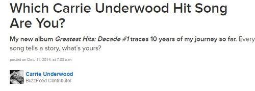 Carrie Underwood quiz