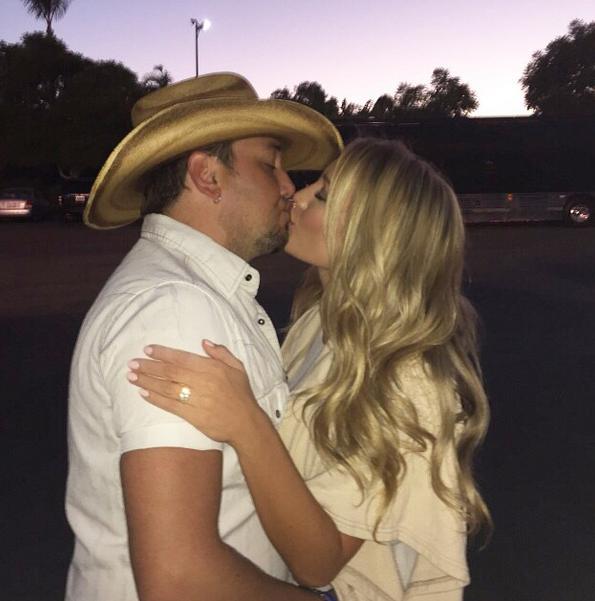 Brittany and Jason Aldean engagement pic
