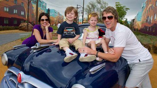 Joe Don Rooney and family Disney World