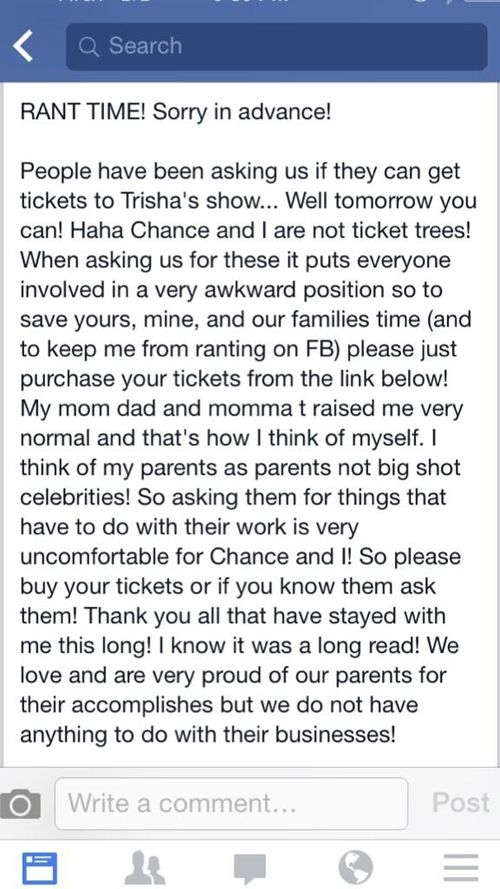 Stop asking for tickets
